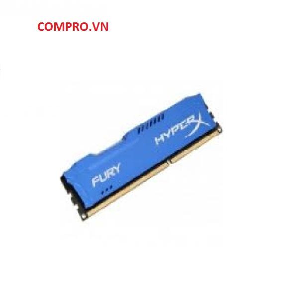 Bộ nhớ DDR3 Kingston 8GB (1600) Hyper X Fury Xanh (HX316C10F/8)