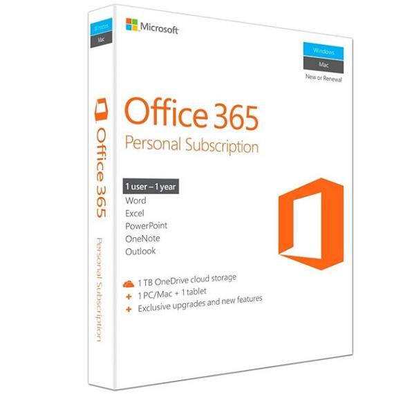 Phần mềm Office 365 Personal English APAC EM Subscr 1YR Medialess P2 (QQ2-00570)