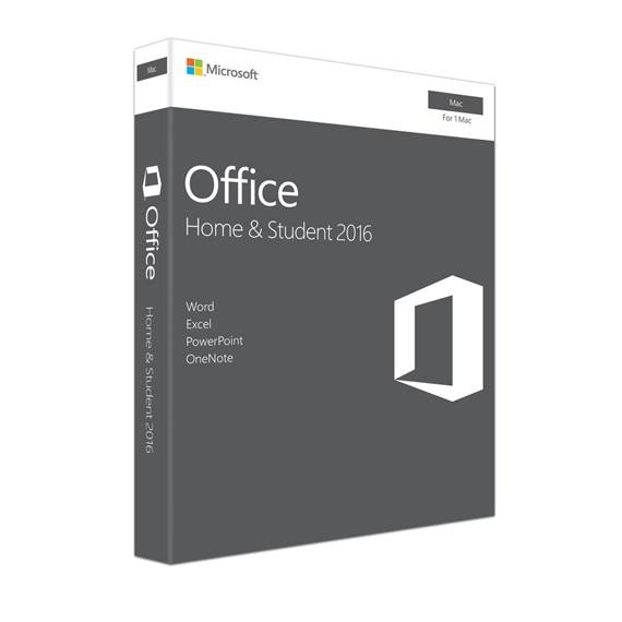 Phần mềm Office Mac Home Student 2016 English APAC EM Medialess P2 (GZA-00980)