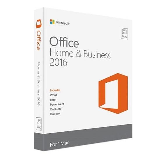 Phần mềm Office Mac Home Business 1PK 2016 English APAC EM Medialess P2 (W6F-00882)