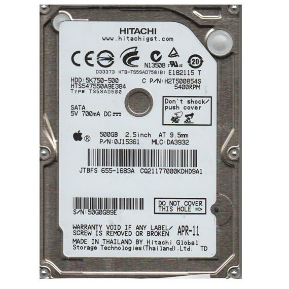 Ổ cứng Notebook HDD HGST 500GB 2.5 inch sata 3 (7200rpm)