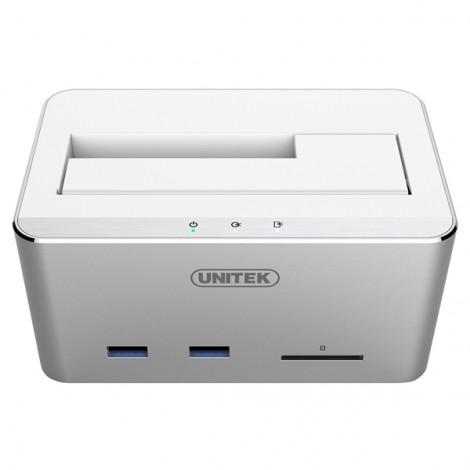 HDD Dock Unitek 2.5 3.5 sata 6G + Hub + Card SD Unitek Y-1092 (3.0)