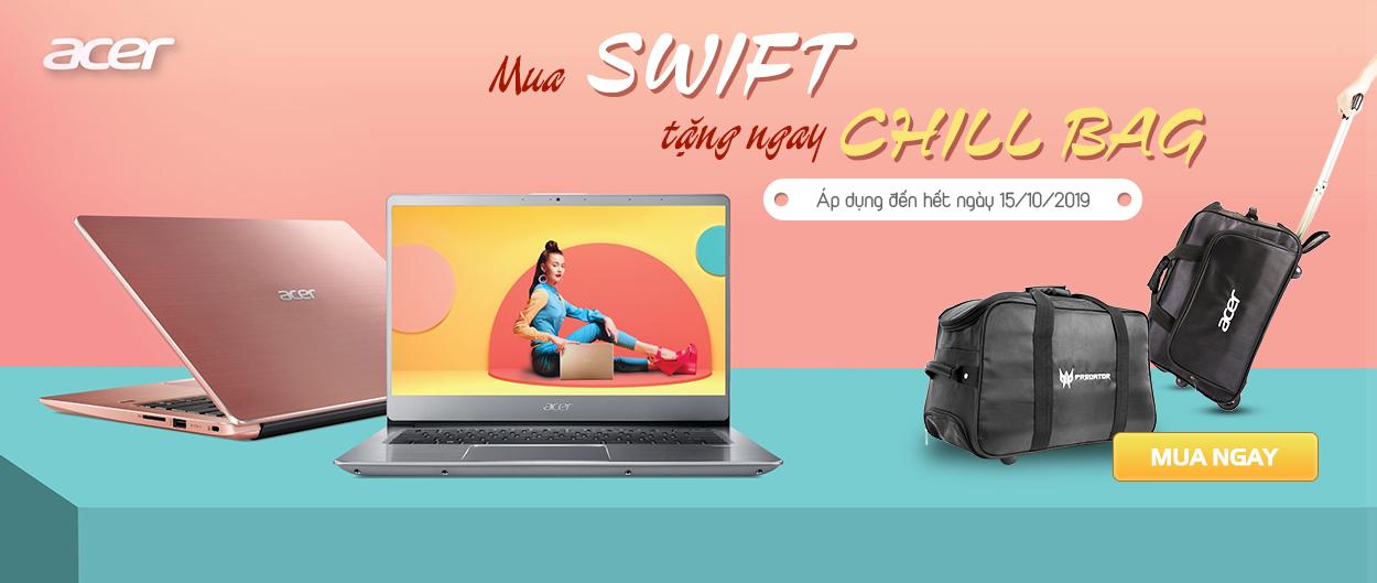 Mua laptop Acer tặng ngay Chill Bag
